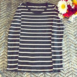 GAP Woman's Shirt Size XS Gray/White